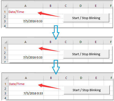 How to blink or flash text of specified cell in Excel?