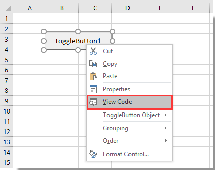 How to use button to show hide columns in Excel?