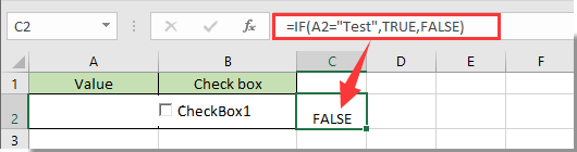 How to make checkbox checked based on cell value in Excel?