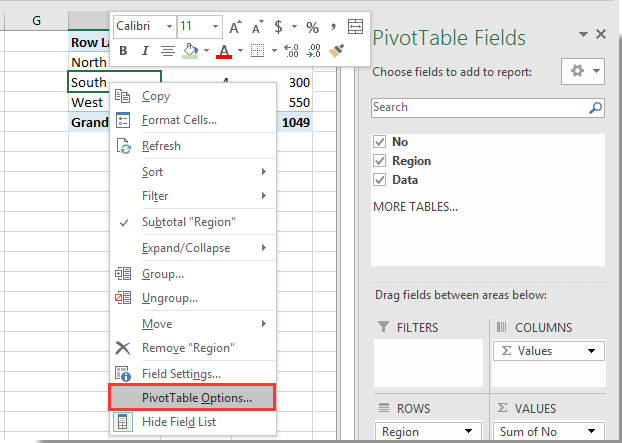 How to clear filter cache (old items) from Pivot Table in Excel?