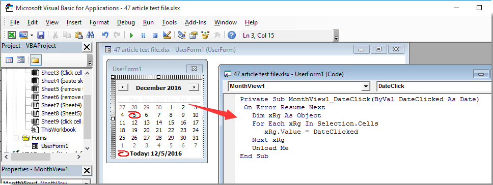 Inserire Calendario In Excel.Come Far Apparire Un Calendario Quando Si Fa Clic Su Una