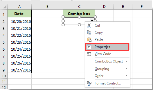 How to prevent or disable typing in a combo box in Excel?