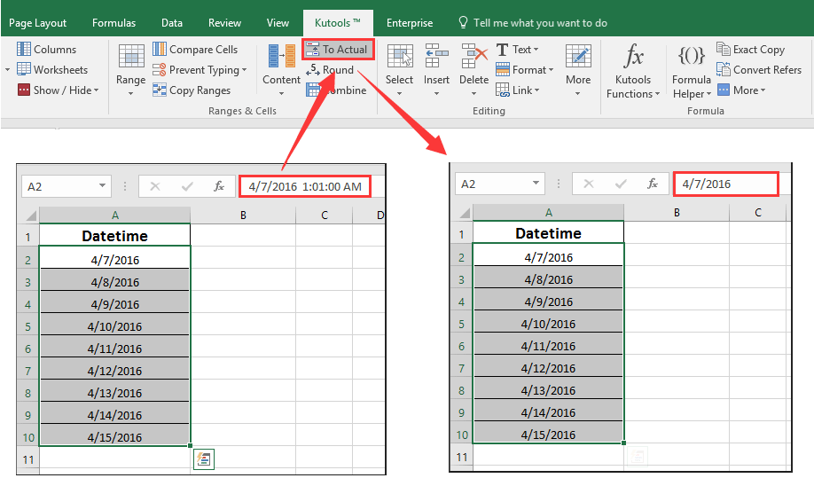 How To Convert Date Time Format Cell