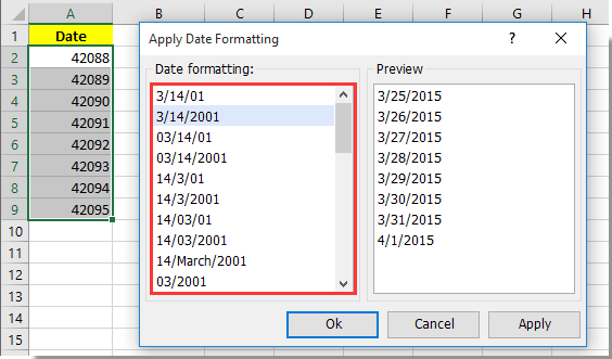 How to convert serial number to date in Excel?