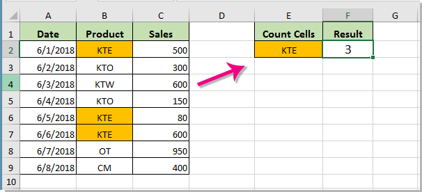 How to count cells with specific text and fill/font color in Excel?