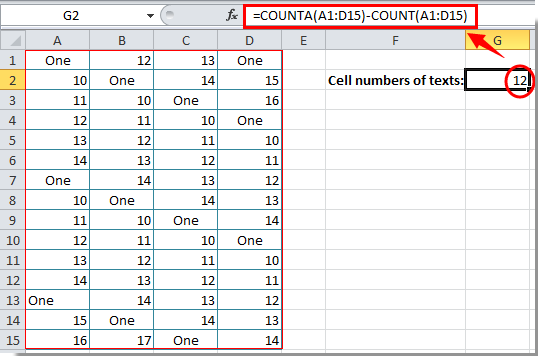 how to count letters in excel how to count number of cells with text or number in excel 22266 | doc count cell numbers with text 1