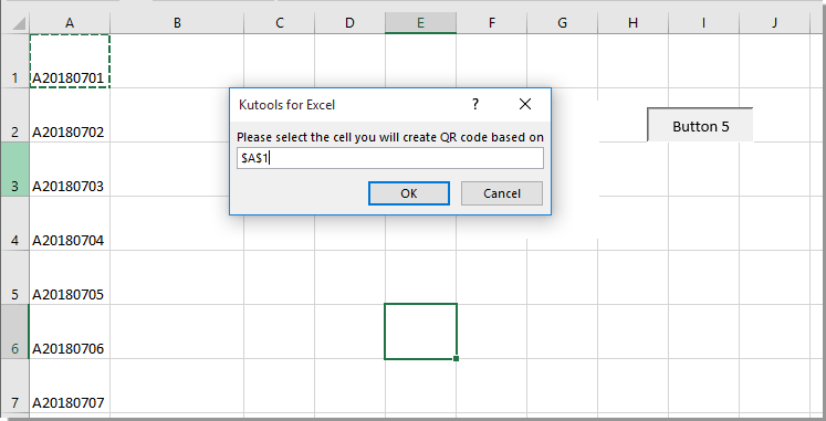 How to create qr code based on cell value in Excel?
