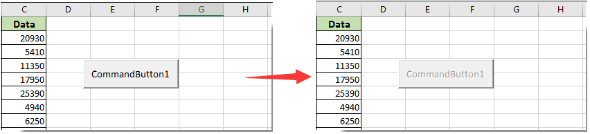 How to disable button after clicking once in Excel?