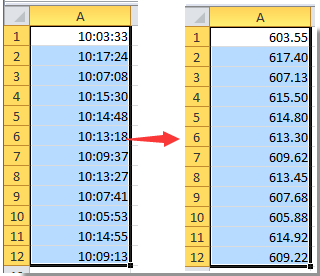 note with this convert time feature you can also display the time format as hours or seconds only