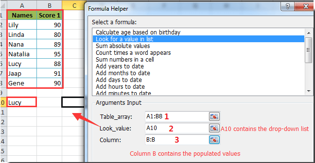 How to auto populate other cells when selecting values in