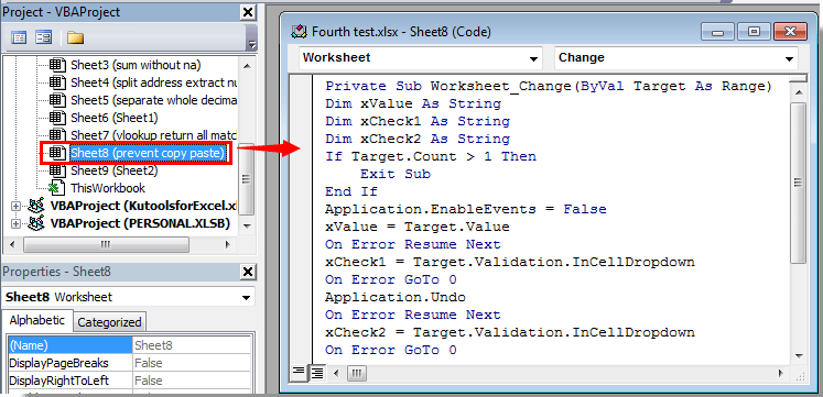 How to prevent copy and paste over cell with drop down list in Excel?