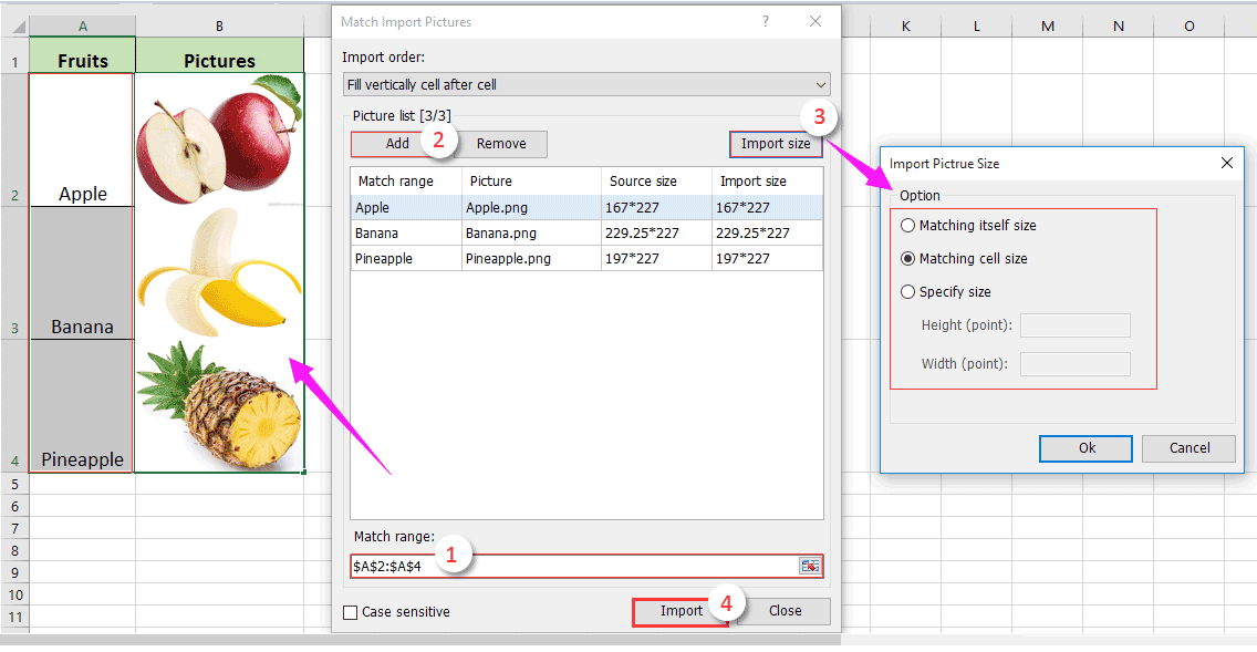 How to insert image or picture dynamically in cell based on