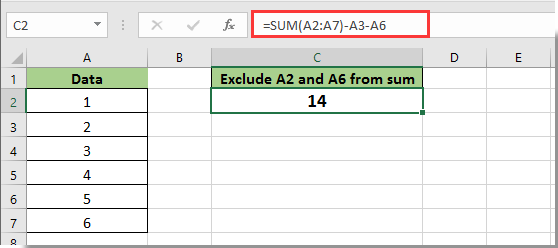 How To Exclude Cells In A Column From Sum In Excel