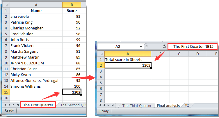 How to get or reference cell from another worksheet in Excel?