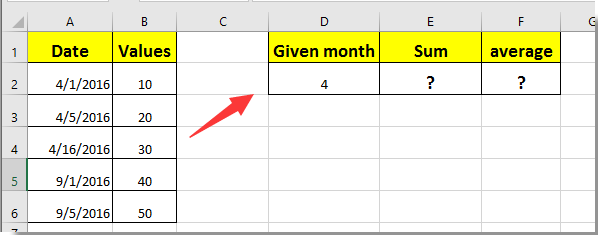How to sum or average values if dates in adjacent cells