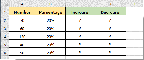 How to increase or decrease cell number/value by percentage