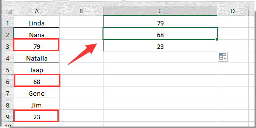 how to increase or increment cell reference by x in excel