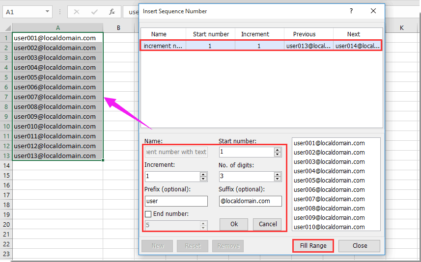 How To Create Increment Number With Or Inside Text In Excel