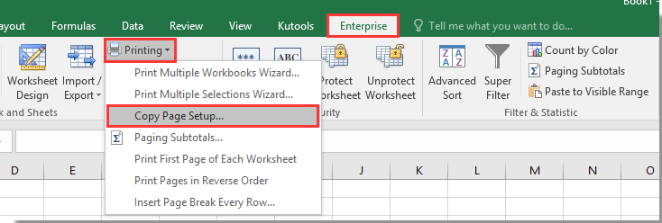 How to insert header and footer on all sheets in Excel?