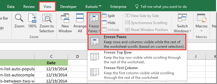 How to make header row follow when scroll down worksheet in