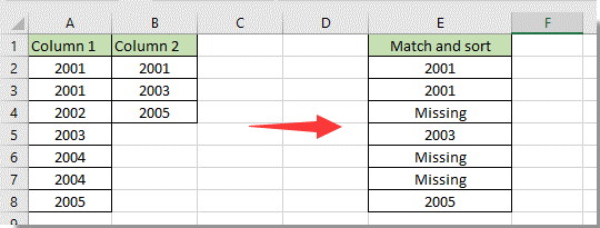 How to sort a column to match the value in another column in