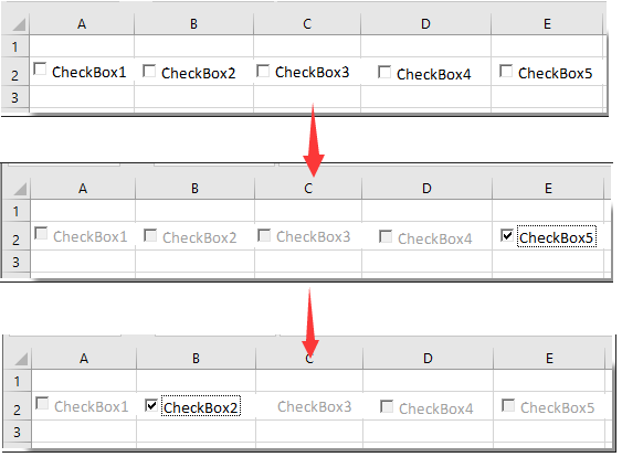 How to only make one checkbox to be selected in a group of