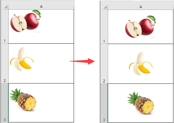 How to center a picture in an Excel cell?