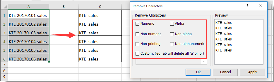 How to remove all brackets from string in a range in Excel?