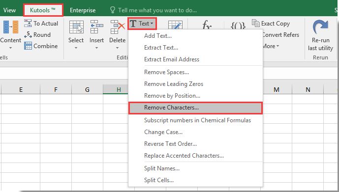 how to remove inverted commas from cells in excel