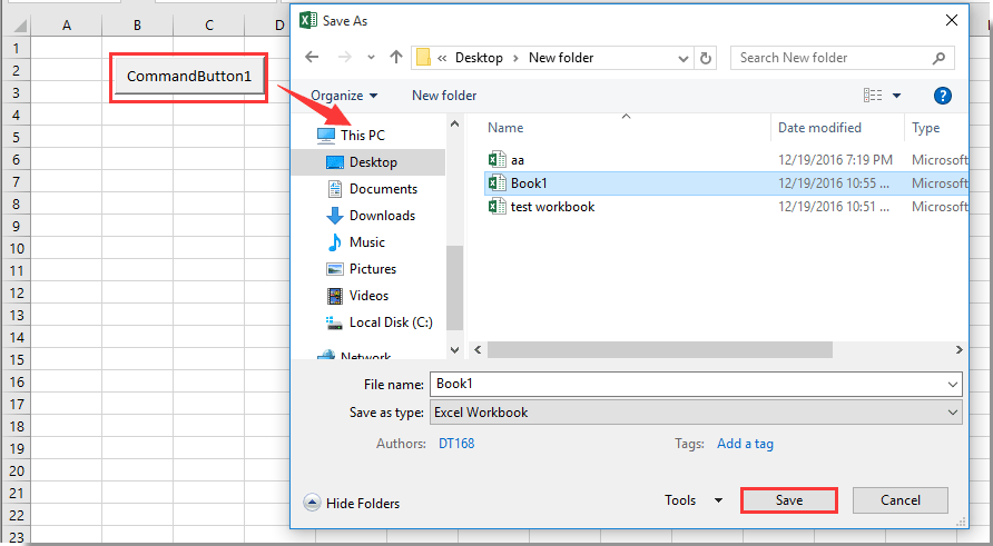 How to use Save As function to automatically overwriting existing