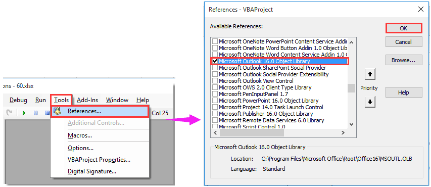 How to send email with HTML email body in Excel?