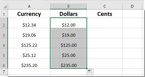 doc afzonderlijke dollars centen 10