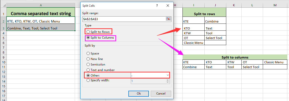 How to break or split address into separated parts in Excel?