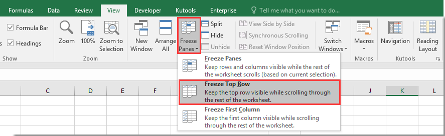How to keep title row moving down with the page (freeze the
