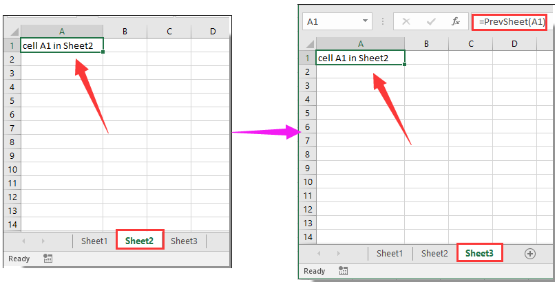 How to use/reference value from previous worksheet in Excel?
