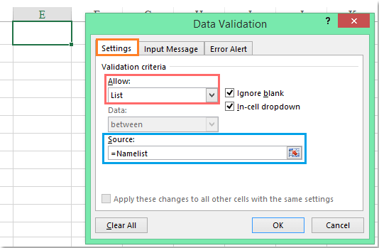 How to apply data validation to multiple sheets at once in Excel?