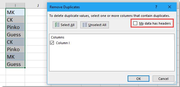 lista desplegable de doc sin 9 duplicado