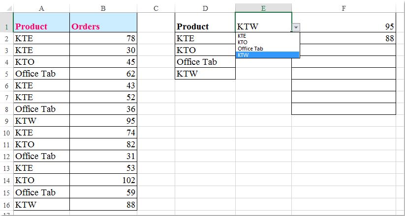 قائمة منسدلة للوثيقة بقيم متعددة 8