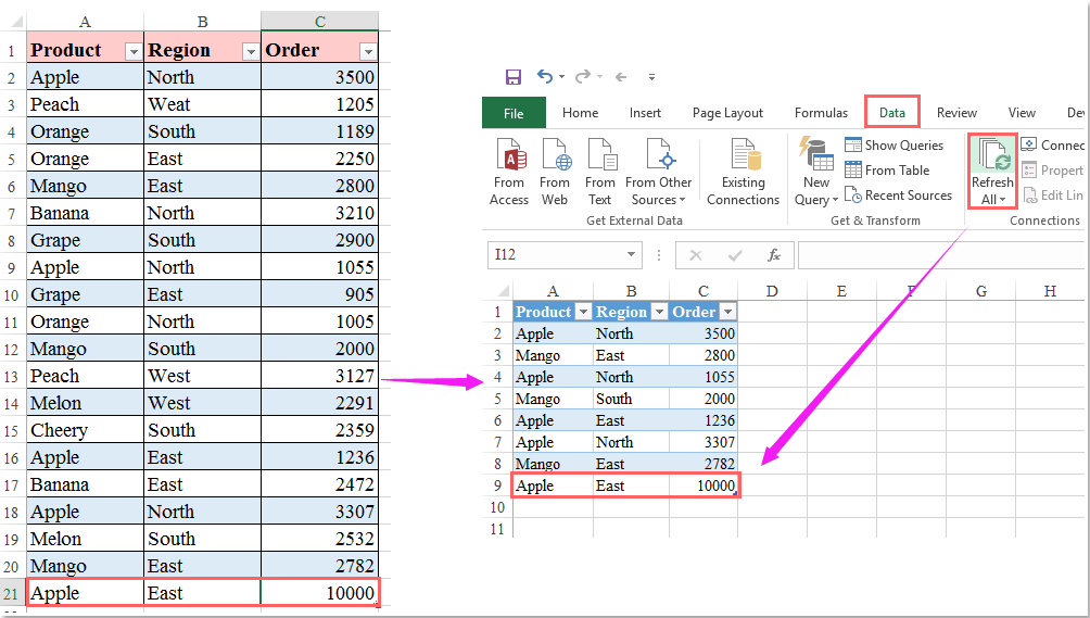 Using the Excel FILTER Function to Create Dynamic Filters