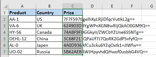 How to encrypt/decrypt selected cells in Excel?