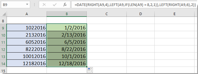 doc enter dates without slash 9