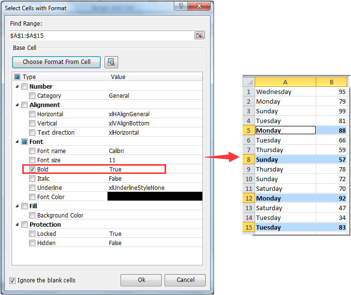 How to sum / count bold numbers in a range of cells in Excel?