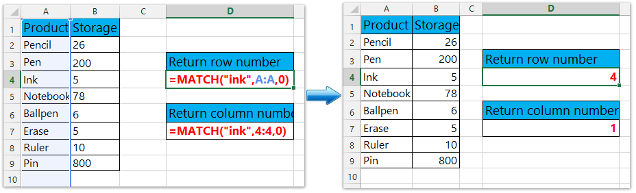 How to identify and return row and column number of cell in Excel?