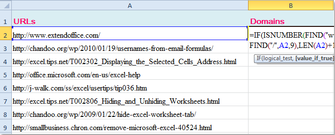 DOC提取物域-URL-1