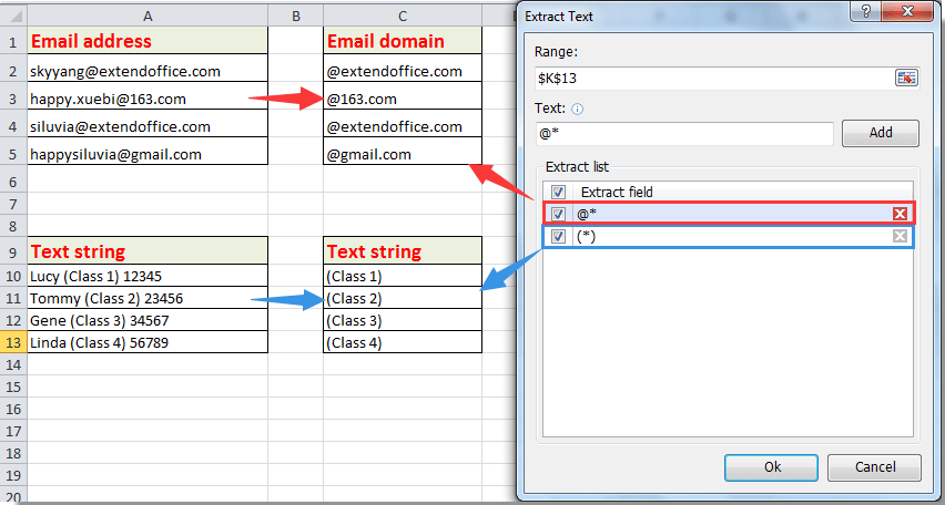 How to extract state, zip code or city from address in Excel?
