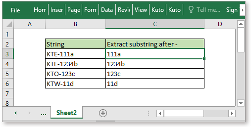 doc extract substring 2