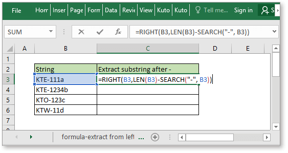 doc extract substring 6