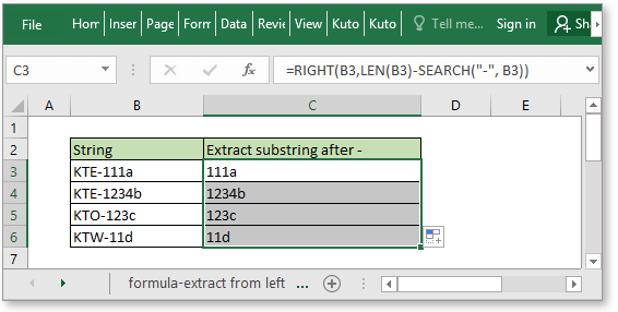 doc extract substring 7