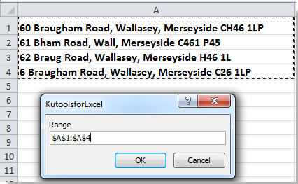 How to extract postcode from address list in Excel?