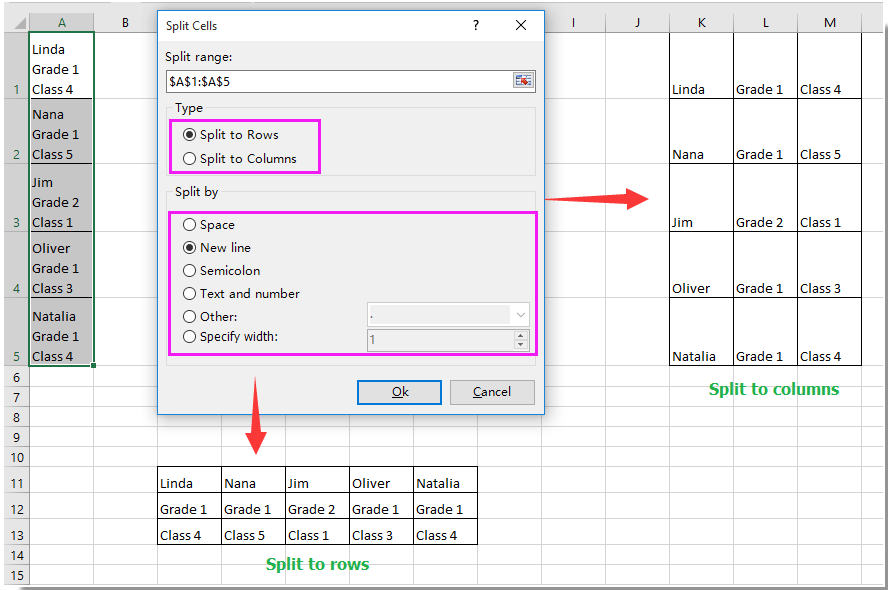 How to separate whole number (integer) from decimal in Excel?